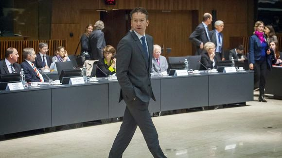 Ο πρόεδρος των υπουργών Οικονομικών της ευρωζώνης Γερούν Ντάισελμπλουμ  κατά τη συνεδρίαση των υπουργών Οικονομικών στις Βρυξέλλες