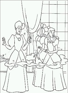 Dibujos de Cenicienta para Pintar, parte 5