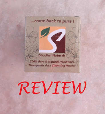 REVIEW: Shudhvi Naturals Therapeutic Face Cleansing Powder image