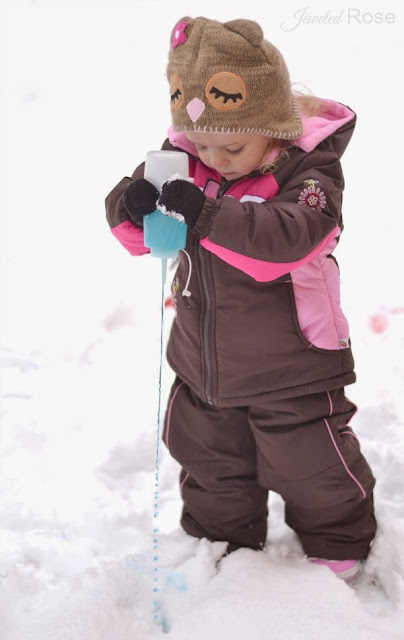 Hunting for magic snow- a fun Winter activity for kids