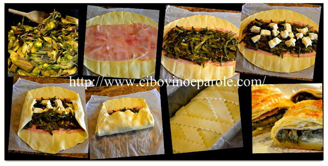 Strudel carciofi -step by step