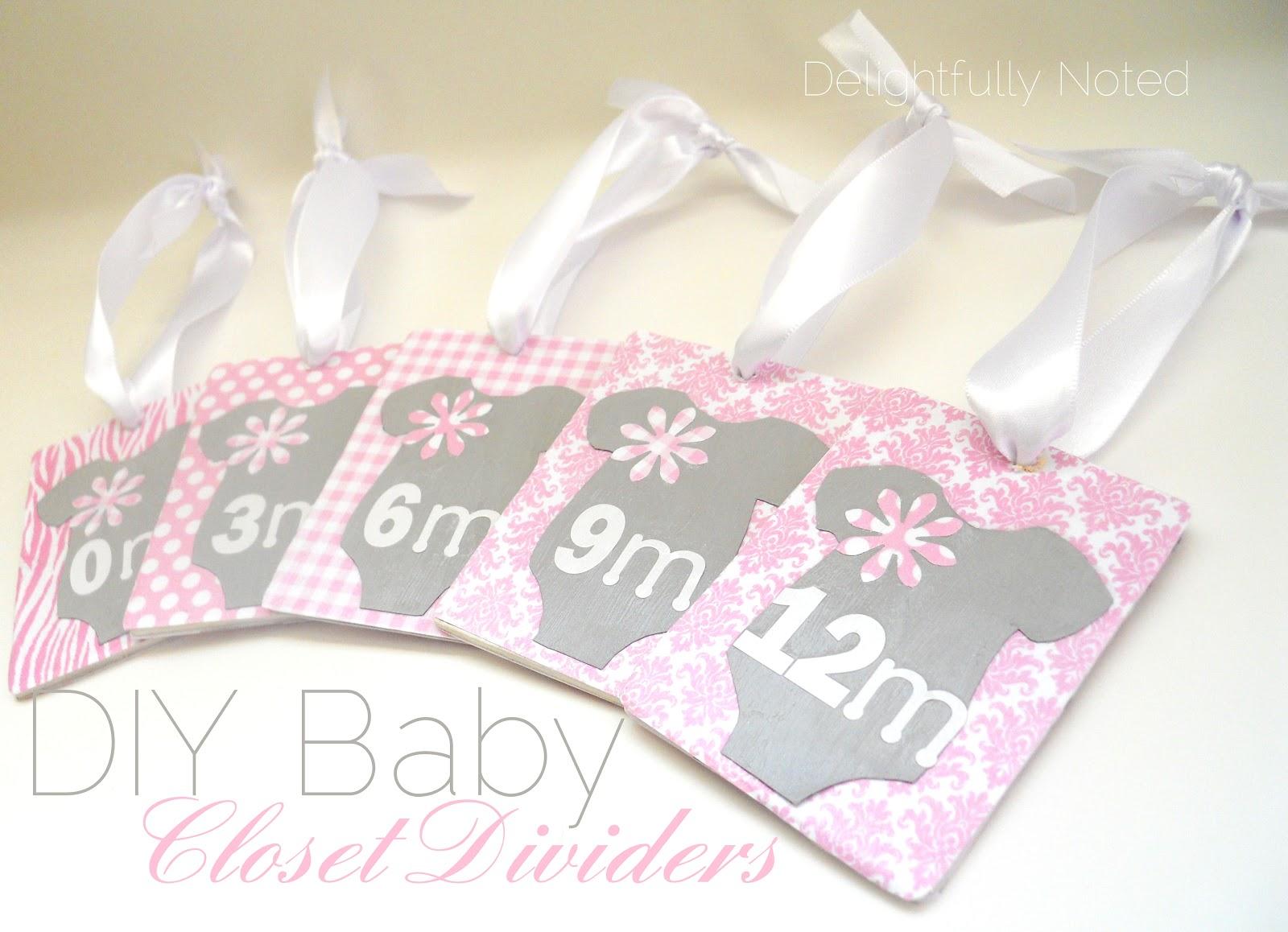 Handmade Baby Gifts: DIY Baby Closet Dividers ...