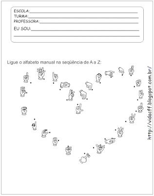 atividade para surdos ligue o alfabeto manual na sequencia de a a z