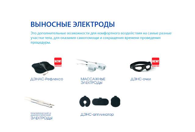 Выносные электроды ДЕНАС