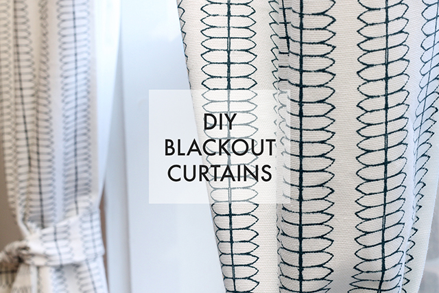 Tutorial on making blackout curtains