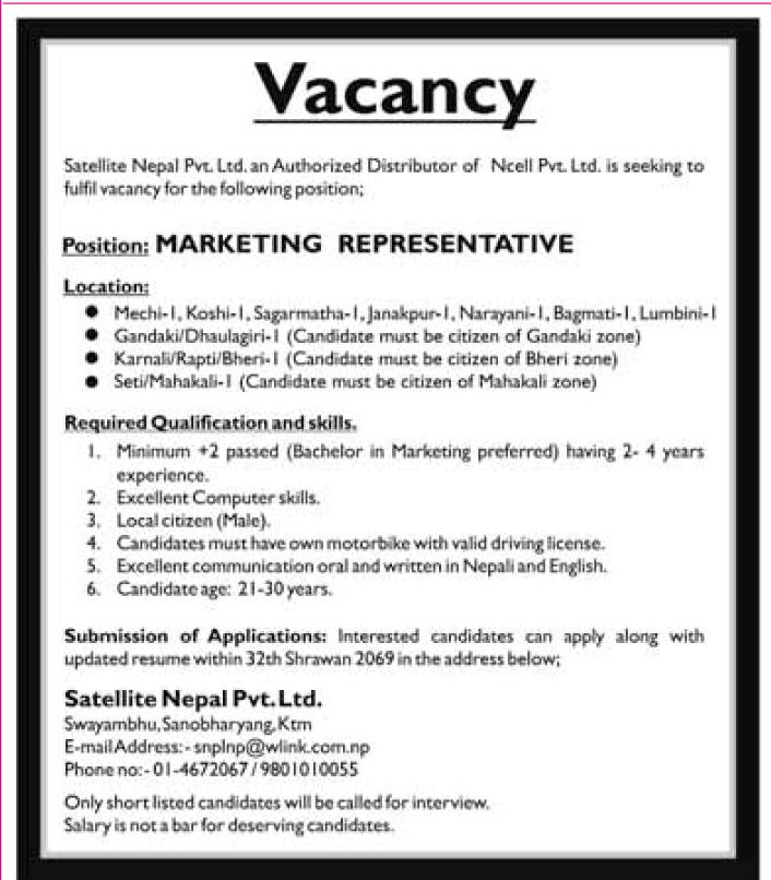 Advertisement Job Vacancy And Application Letter