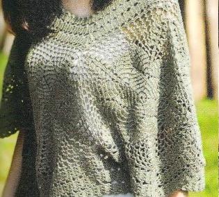 Chal Gris a Crochet o Ganchillo