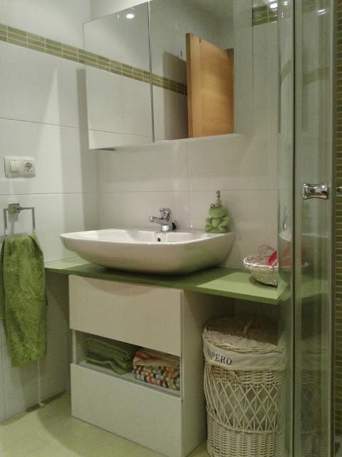 Un mueble para ba o en verde con best mi llave allen for Cuanto cuesta un lavabo