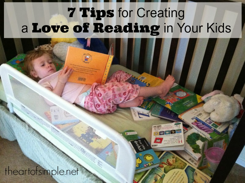 Quirky Bookworm: 7 Tips for Creating a Love of Reading in Your Kids