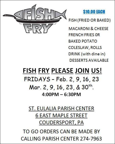 3-2 Fish Fry, St. Eulalia