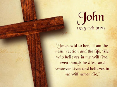 John 11:25-26 Bible Quote