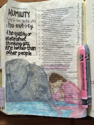 Proverbs 11:2 Bible Journal Page by Lynn Shokoples