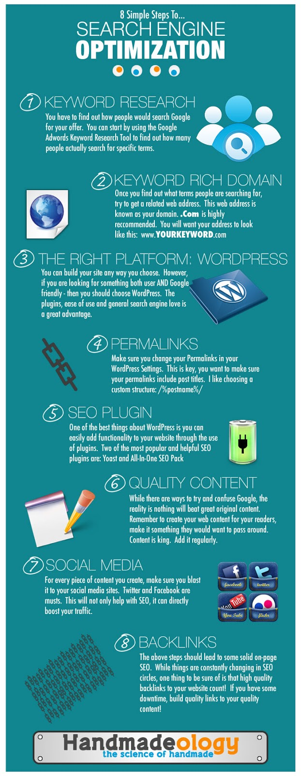 8 Simple Steps to SEO Infographic