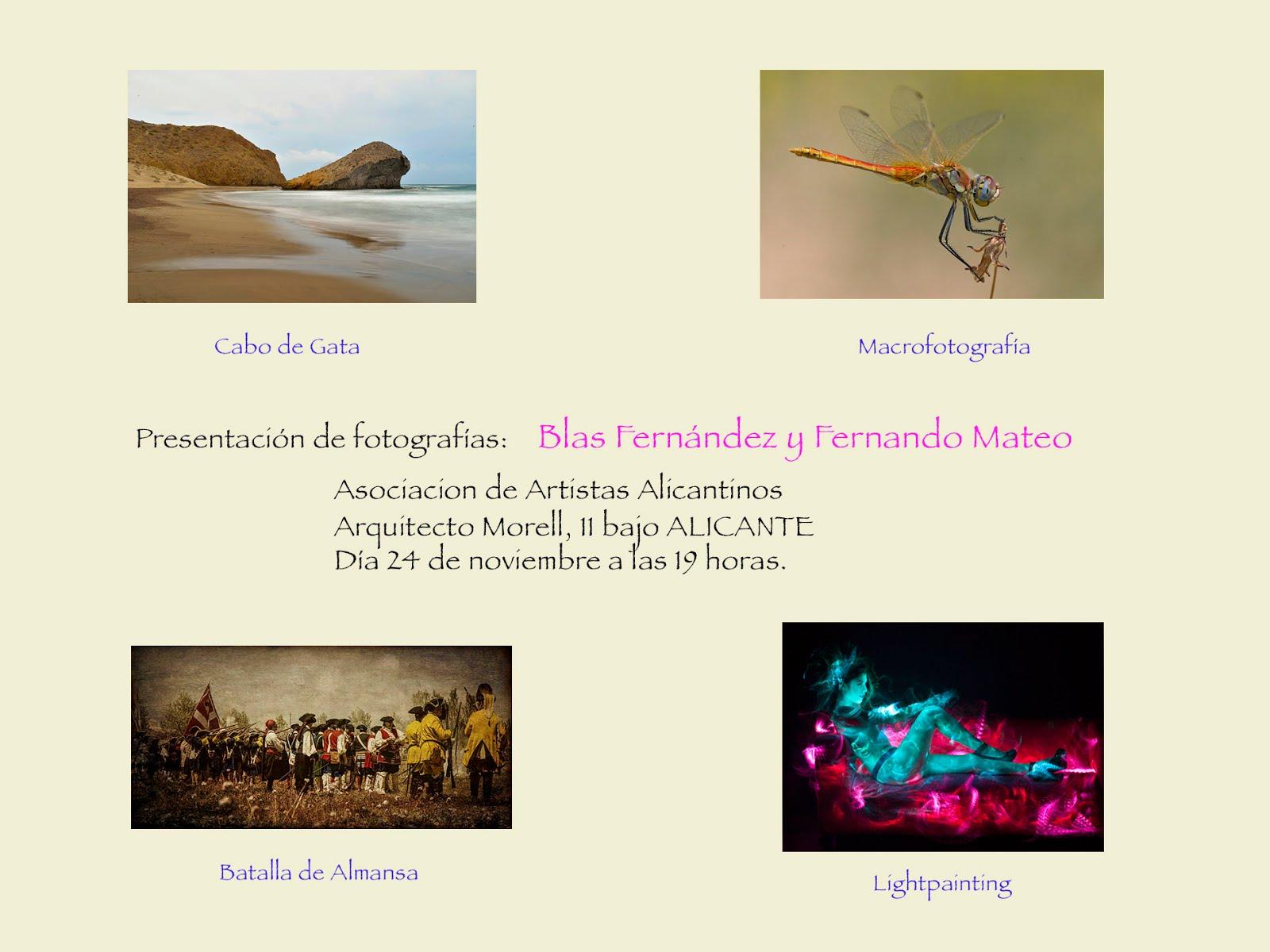 PROYECCIONES DE FOTOGRAFÍAS