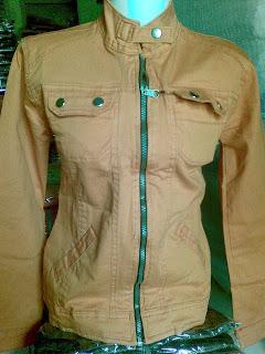 Jaket Jeans Cewek Orange