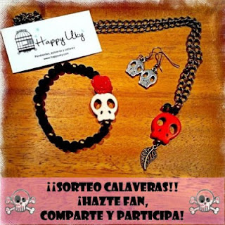 happy uky sorteo collar calaveras pulsera pendientes