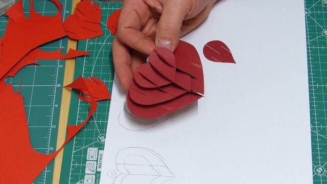 Ein 3D Herz als Scherenschnitt zum Valentinstag | Feines aus Wuppertal