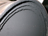 image of diesel particulate filter clogged with soot and ash