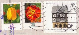 Alsfeld Town Hall stamp; tagetes; tulpe;