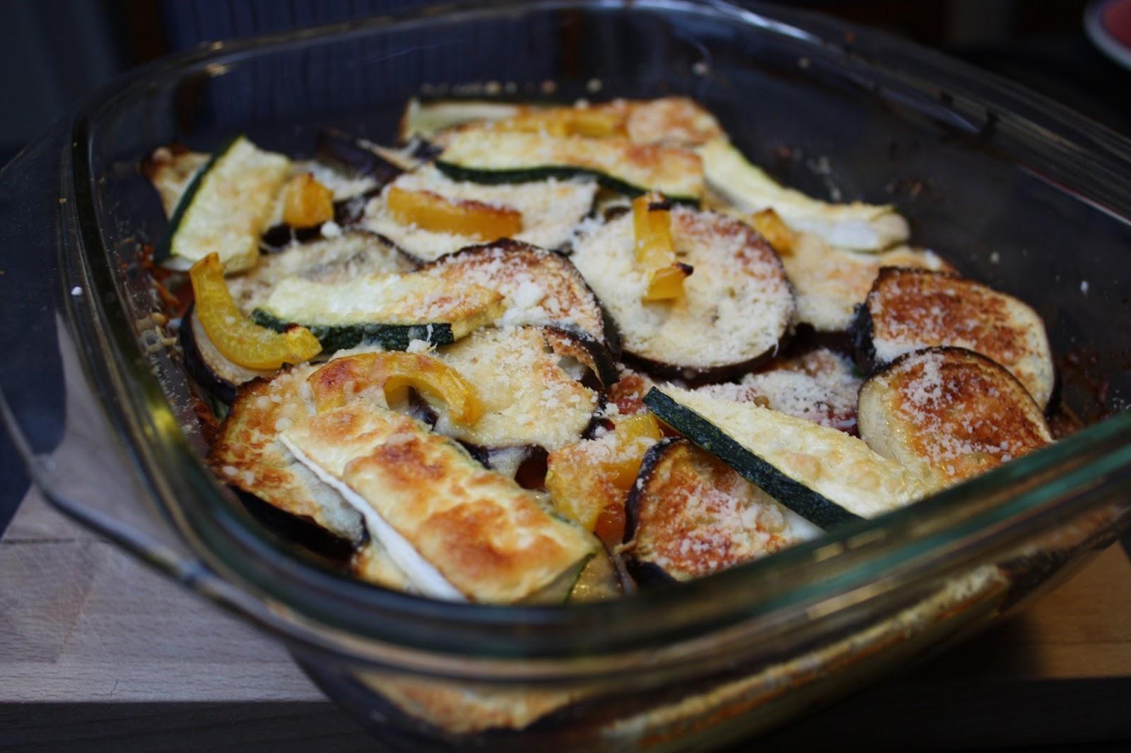 vegetarisk lasagne med squash
