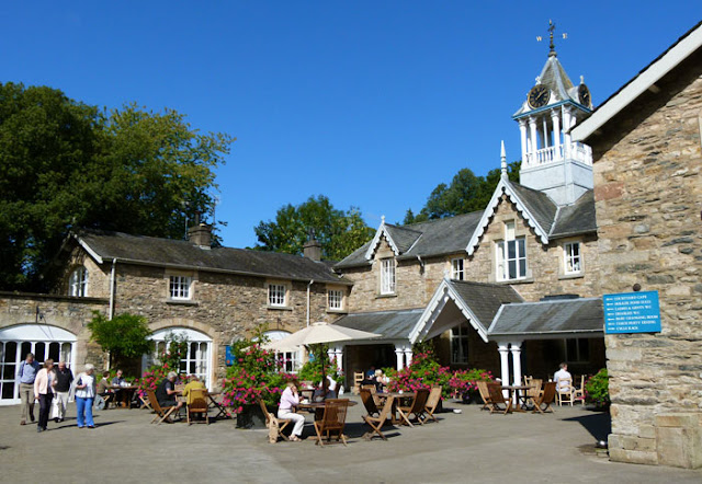 Holker, restaurant, stables, clock tower