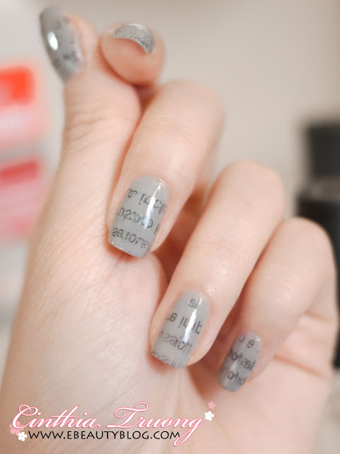 Cool Newspaper Print Nail Art Tutorial