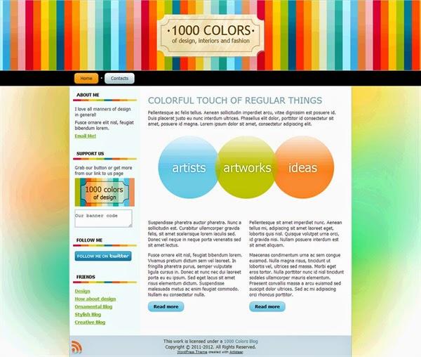 1000 Colors - Free Wordpress Theme