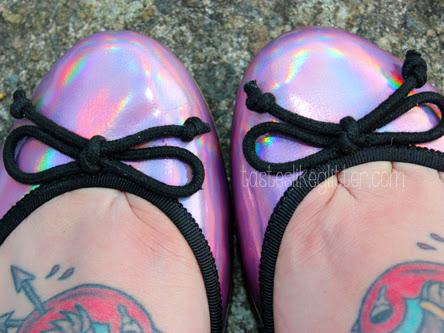 ASOS Lucy Iridescent Ballet Flats.