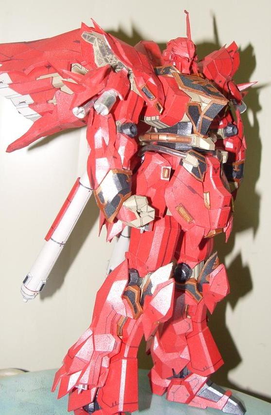 Papercraft Gundam MSN-06S Sinanju