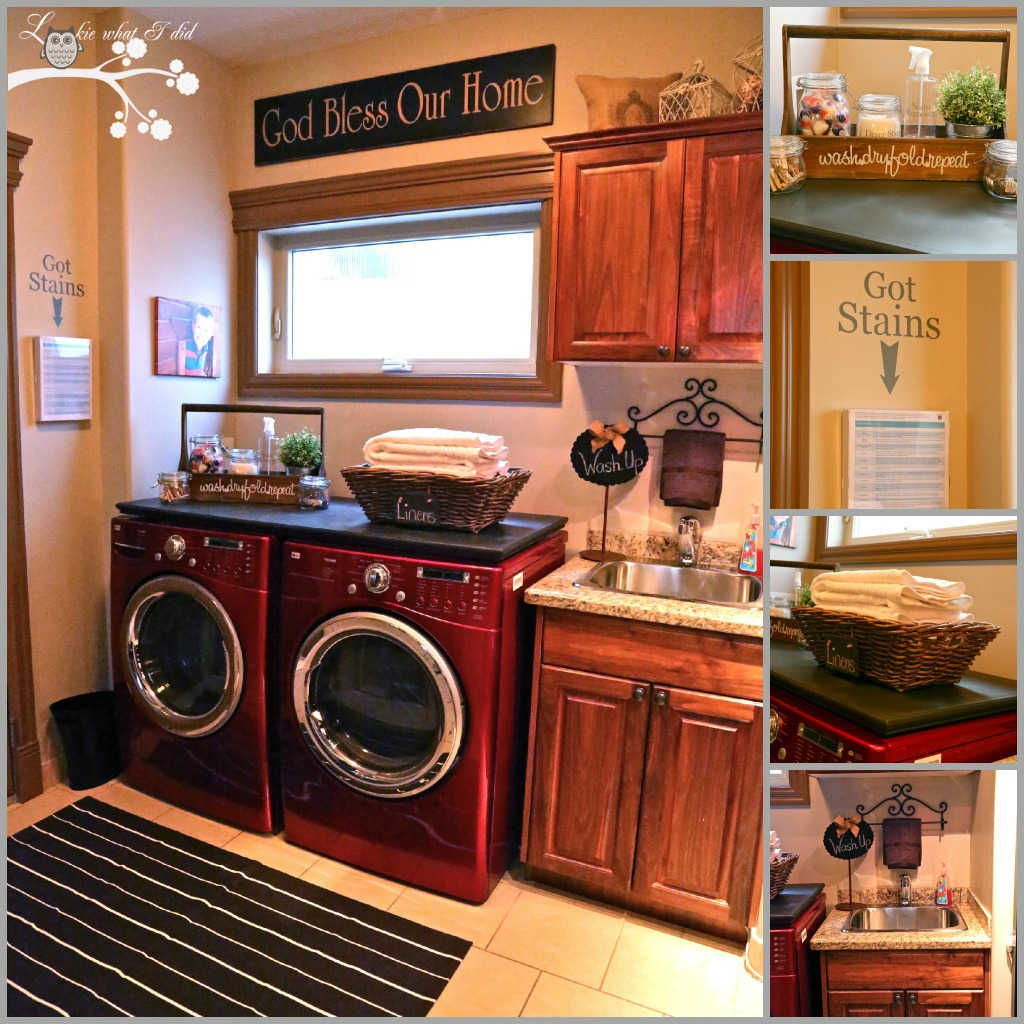 Laundry Room: Lookie What I Did: My Laundry Room Makeover