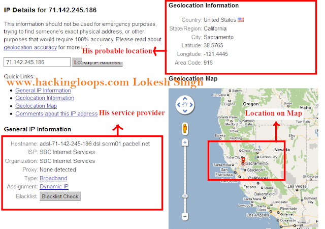 trace geographic location using IP address