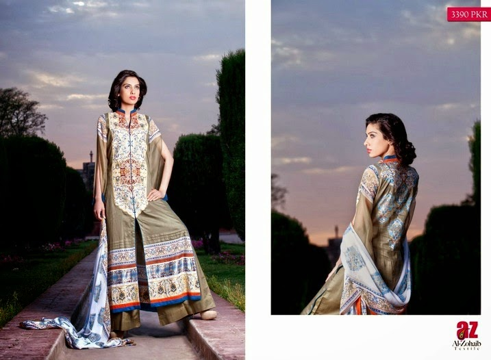 Zeb-Aisha Premium Lawn Collection 2014