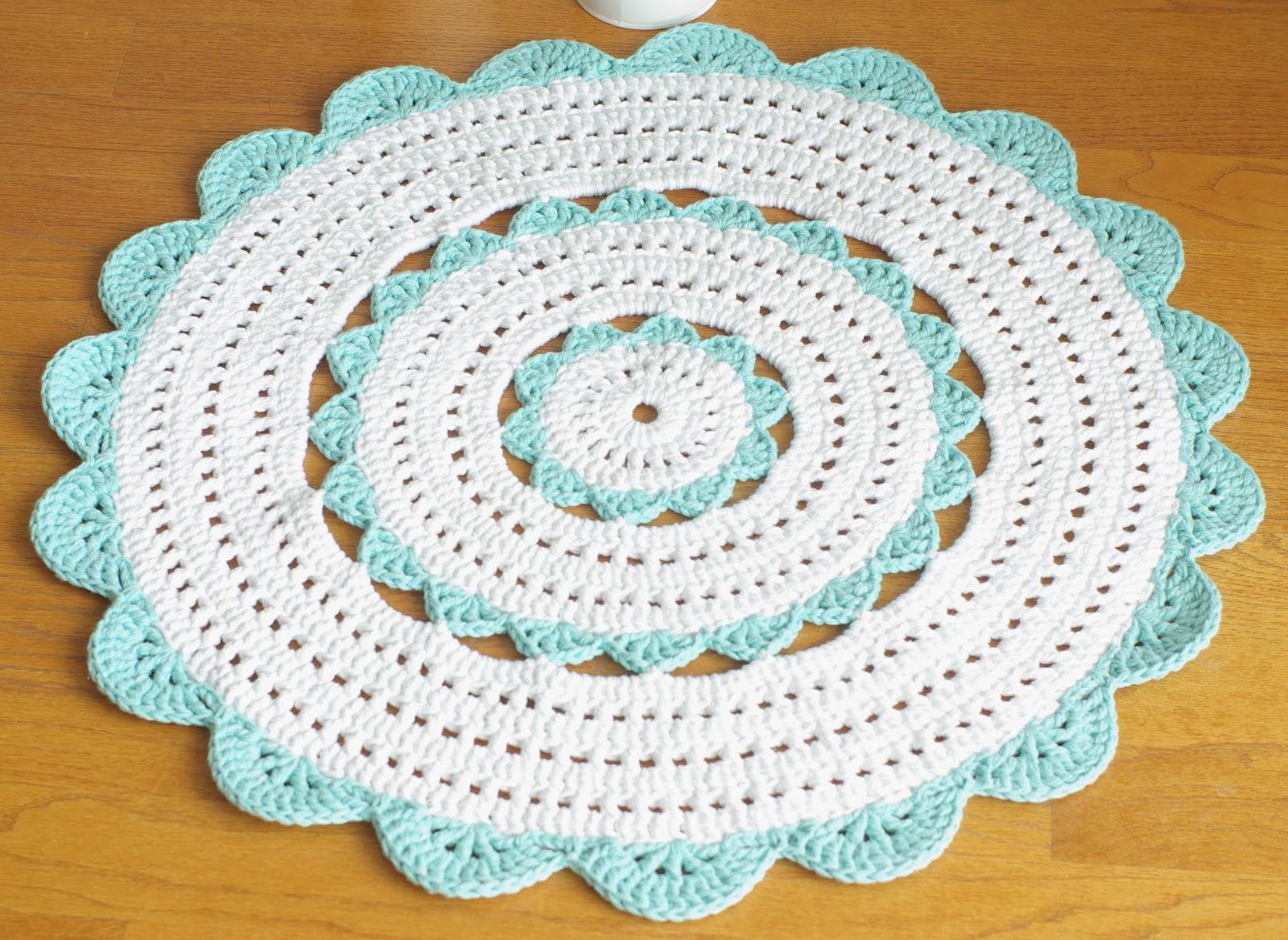 Custom Handmade Crochet Doily Rug Sara