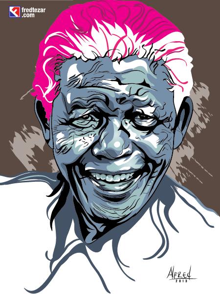 Nelson Mandela vector potrait dan sedikit cerita dibalik pengerjaan