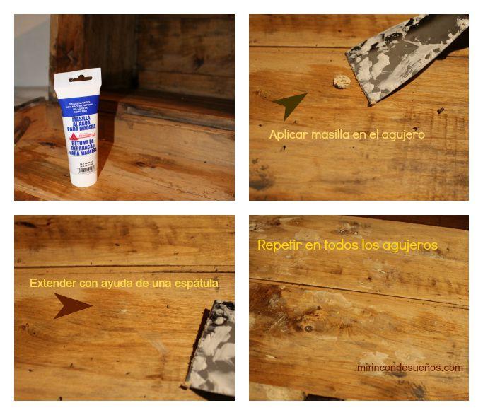 Como tapar agujeros en la madera gallery of consejos para tapar agujeros en una pared with como - Masilla para tapar agujeros en madera ...