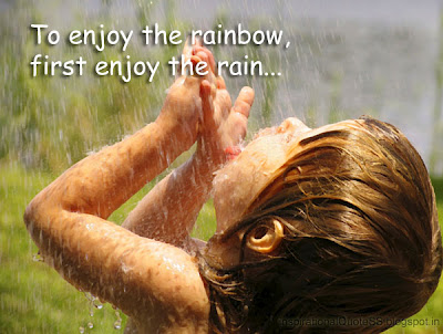 boy enjoying rain quotes