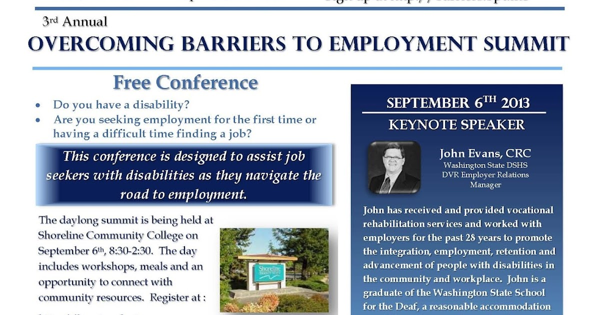 Connectup overcoming barriers to employment summit at