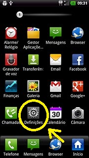 Definições celular LG maximo true HD LTE(P936)