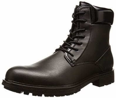 Shoes Calvin Klein Men's Oakes Leather Motorcycle Boot