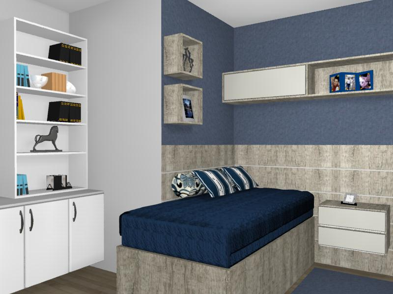 Susan Daiane Design de Interiores Quarto do Rapaz Solteiro -> Decoração De Interiores Quarto Solteiro