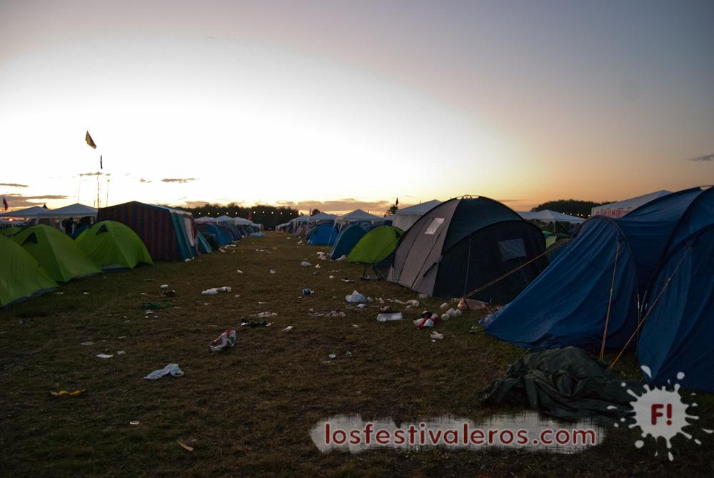 Amanecer, Roskilde Festival, 2014, camping