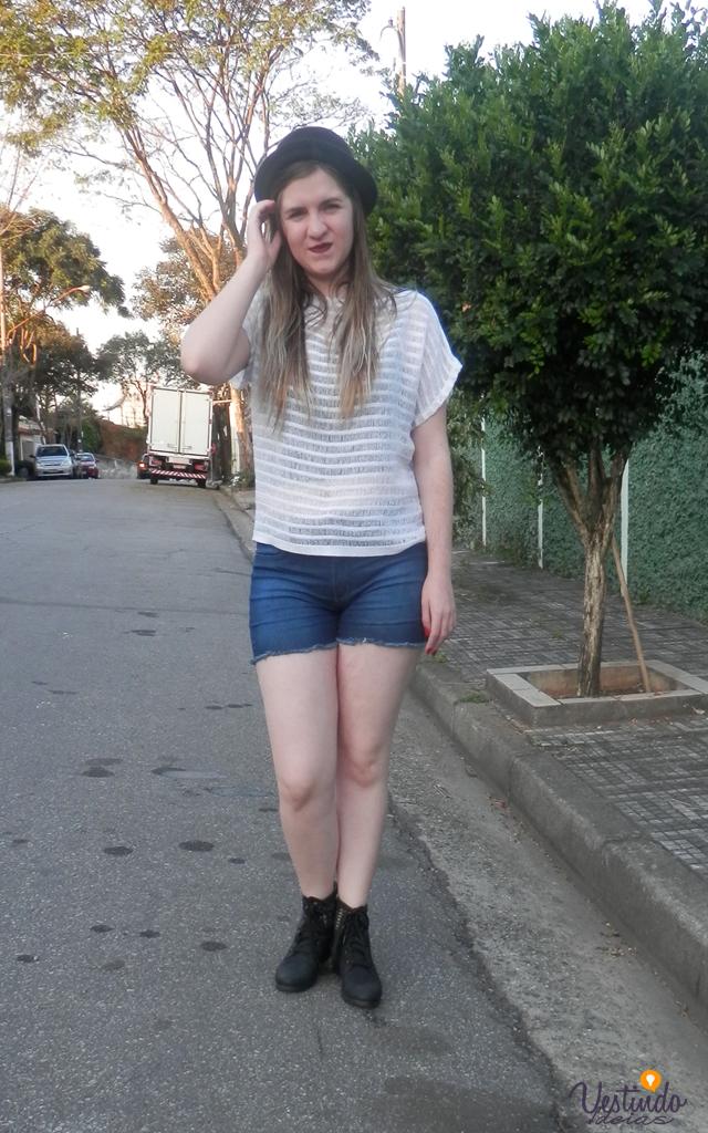 Look: Chapéu coco com bota