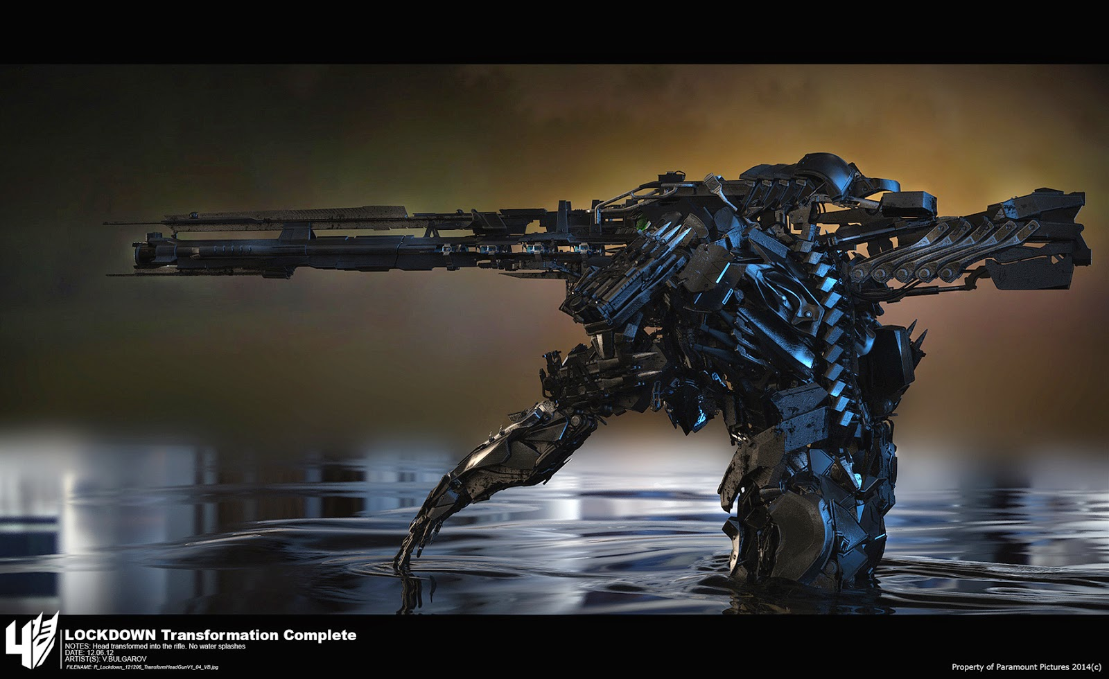 transformers 4 age of extinction lockdown 39 s weapon cg daily news. Black Bedroom Furniture Sets. Home Design Ideas