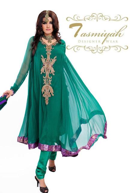 EmbroideredPishwasDresses252832529 - Tasmiyah Designer Collection Long Shirt in Pishwas
