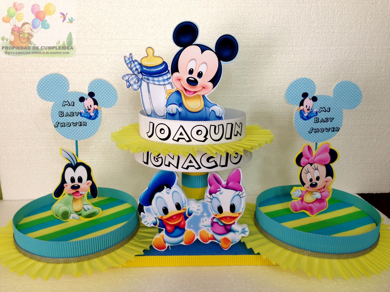 Decoraciones para baby shower de mickey mejor conjunto for Decoracion bebe