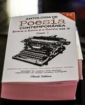 """Co-autora na Antologia de Poesia Contemporânea """"Entre o Sono e o Sonho"""" Vol V,Ch. Editora, Mar 2014"""