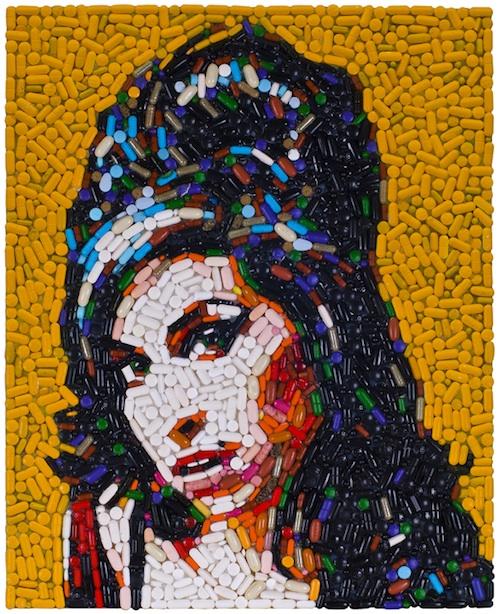 Amy Winehouse In Pills by Jason Mecier