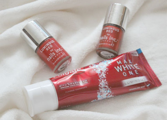 Colgate MaxWhite ONE Luminous and Nails Inc