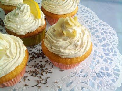 vaníliás-levendulás cupcake fotó
