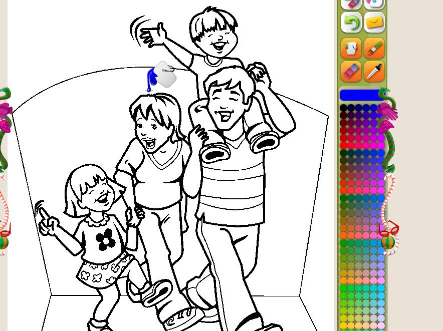 La botica de los peques Colorea la familia Pgina web